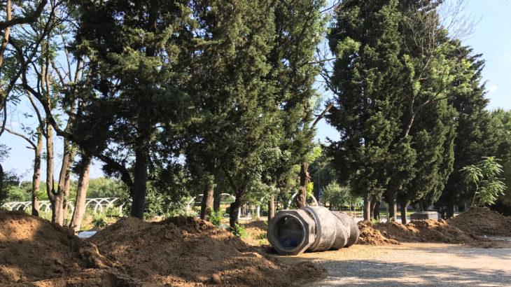 """Öğrencilerin tepkisine rağmen yapımına devam edilen """"YTÜ millet bahçesi"""" 15 Temmuz'a yetiştirilmeye çalışılıyor"""