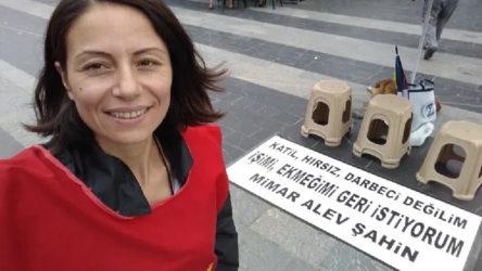 KHK'lı mimar Alev Şahin, polis tarafından yerlerde sürüklendi