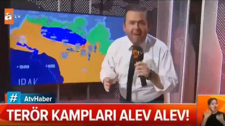 ATV'de muhabir ve kameramandan 'çatışma bölgesi' canlandırması
