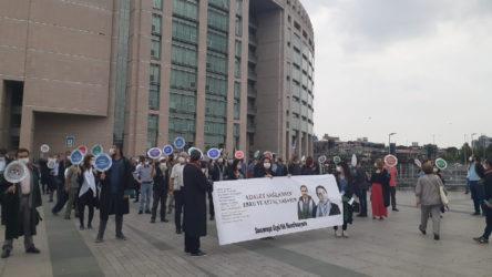Ölüm orucundaki avukatlar Ebru Timtik ve Aytaç Ünsal için eylem
