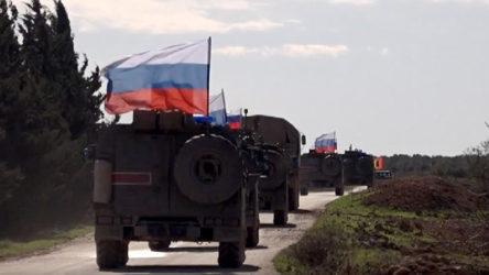 Kobani'de Rus askerinin geçişi sırasında patlama