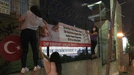 CHP'li gençler gece yarısı 'pankart' ifadesine çağrıldı: Öğrencilerden 2'si yarın sınava girecek