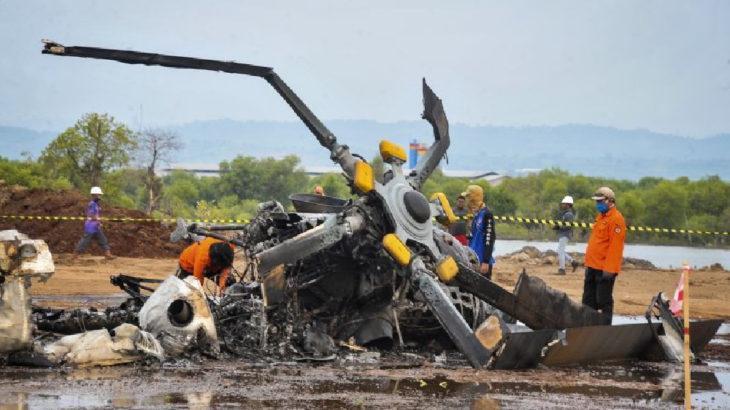 Endonezya'da askeri tatbikat sırasında helikopter düştü: 4 asker hayatını kaybetti