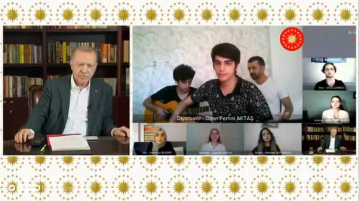 Oysa Erdoğan yayına böyle hazırlanmıştı...