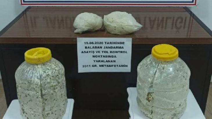 Otlu peynir bidonuyla uyuşturucu taşımacılığı