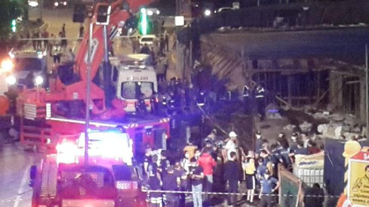 Otel inşaatında göçük: 1 işçi ölü, 8 yaralı