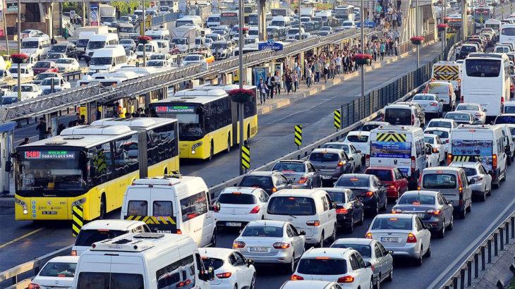 İstanbul'da trafik yoğunluğu yüzde 62'ye ulaştı