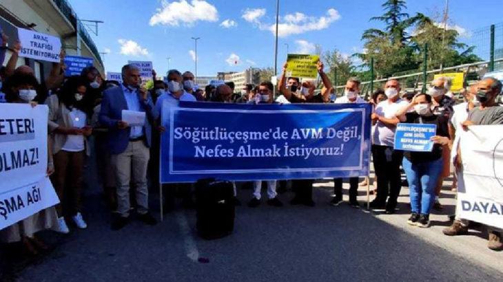 Kadıköylüler'den Söğütlüçeşme'de AVM projesine karşı eylem