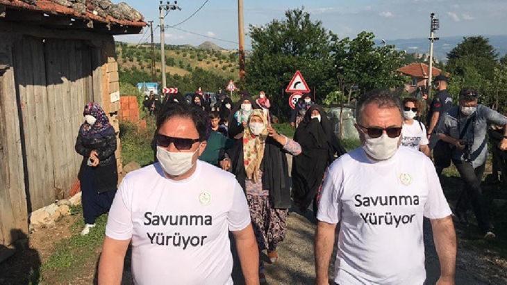 Kirazlıyayla'da direnen köylüler baro başkanıyla yürüdüler