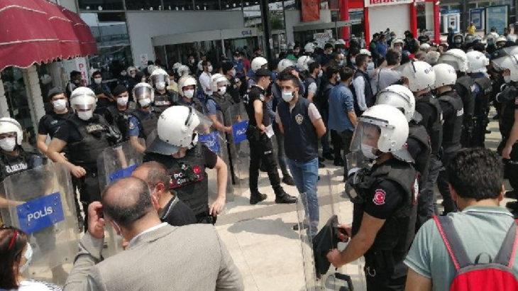 HDP'nin yürüyüşüne polis ablukası: Gözaltılar var