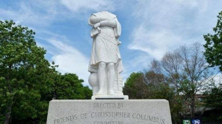 ABD'de Kristof Kolomb heykelinin başı koparıldı