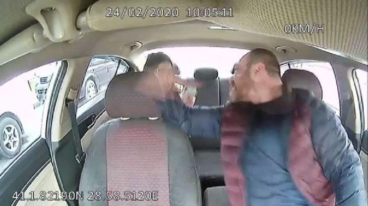 Kadın yolcuyu yumruklayıp boğazını sıkan taksici serbest