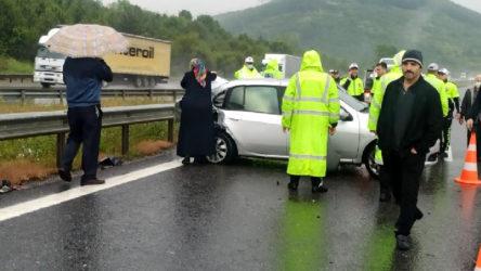TEM'de 'normalleşme': 25 araç zincirleme kazaya karıştı