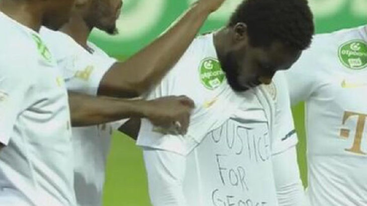 George Floyd'u anan futbolcuya ceza