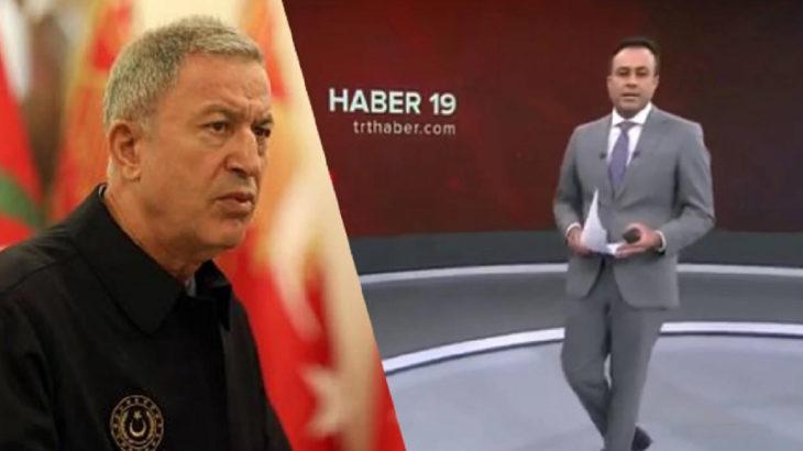 TRT spiker gaflarına bir yenisi eklendi: Genelkurmay Başkanı Hulusi Akar