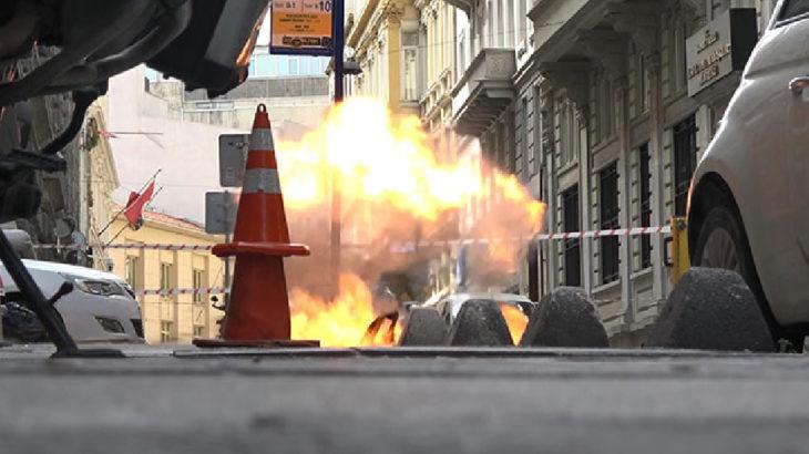 İstanbul Karaköy'de şüpheli çanta fünye ile patlatıldı