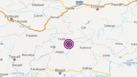 Bingöl Yedisu'da 4.3'lük deprem