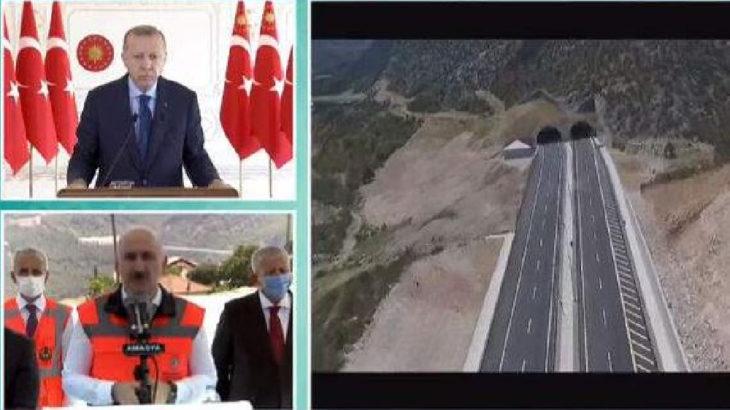 Erdoğan, yapımı 16 yıl süren yolun açılışına Vahdettin Köşkü'nden katıldı