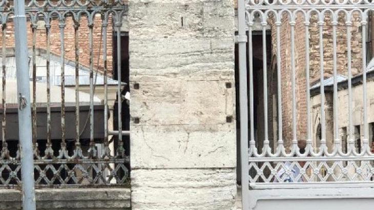 Ayasofya'nın tabelası söküldü