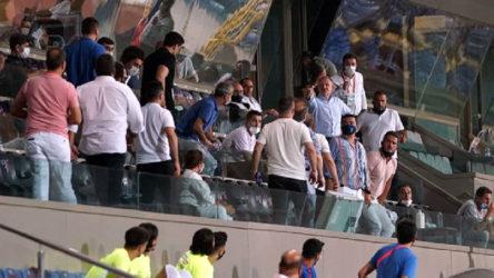 'Seyircisiz maç'ta yine tribünler karıştı