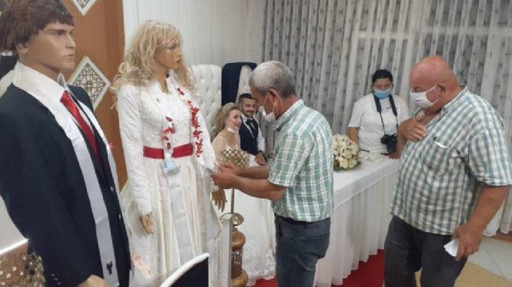 Düğün salonlarında yeni dönem: Takılar cansız mankenlere