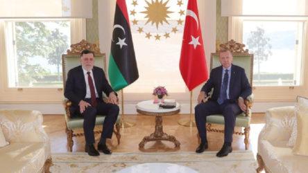 Erdoğan, Libya Ulusal Mutabakat Hükümeti Başkanı Serrac ile görüştü