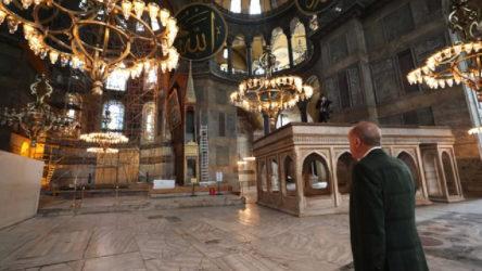 Erdoğan ve Bahçeli Ayasofya'da