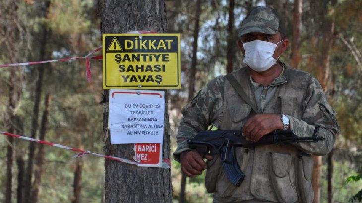 Gaziantep'te 31 işçinin bulunduğu şantiye karantinaya alındı