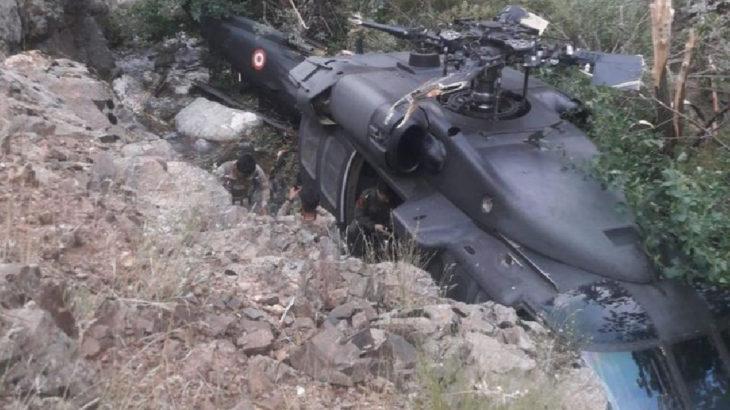 Bingöl'de askeri helikopter zorunlu iniş yaptı