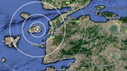 Gökçeada merkezli 4.2 büyüklüğünde deprem