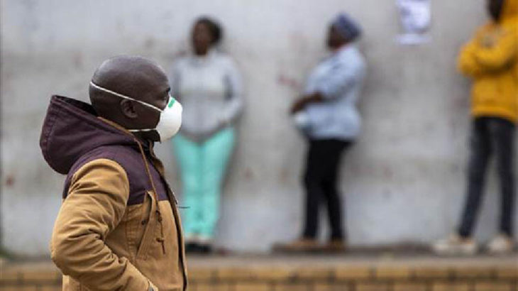 Güney Afrika'da vaka sayısı 450 bini geçti