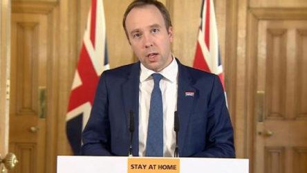 İngiltere Sağlık Bakanı: Avrupa'da ikinci dalga yayılmaya başladı