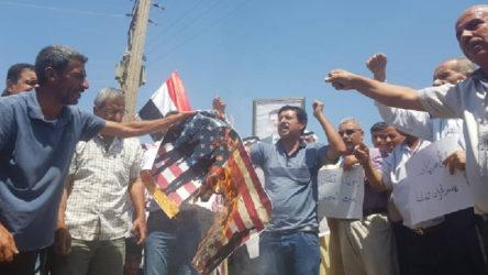 Haseke'de ABD protestosu