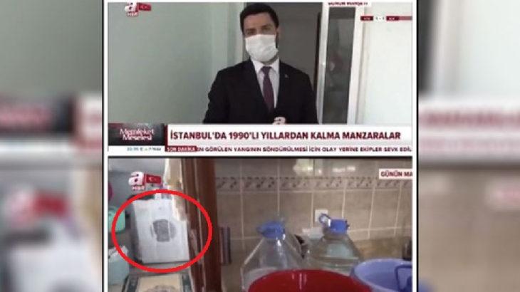 A Haber 'su kesintisi' haberinde çamaşır makinesini açık unuttu