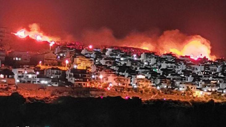 İzmir Karaburun'da yangın
