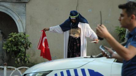 Dolmabahçe'de 'şüpheli kadın' alarmı