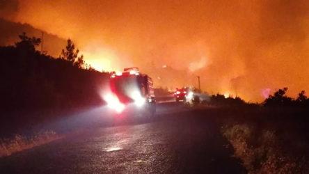 Manavgat'taki yangında 1 kişi öldü 10 kişi mahsur