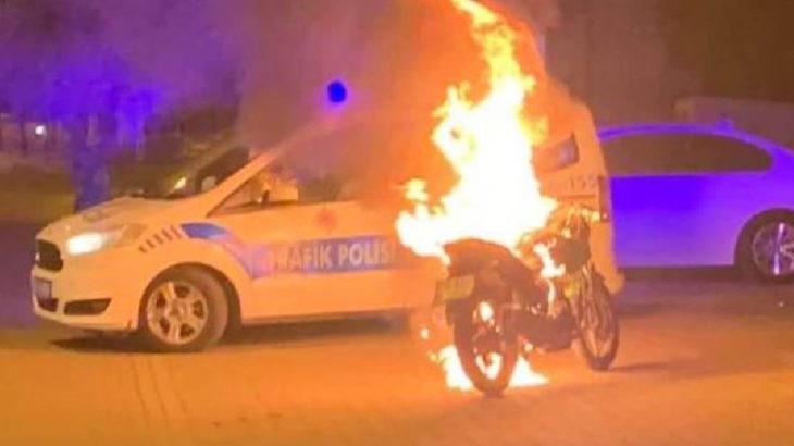 Ceza yiyince aracını ateşe verdi, gözaltına alındı