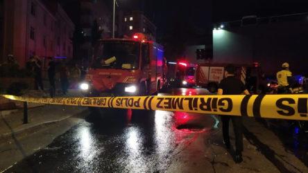 Mecidiyeköy'de atölyede patlama