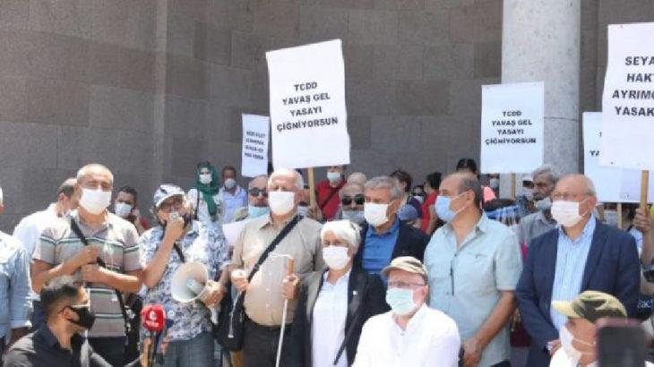 Protesto edilen 'engellilerin trenle seyahat yasağı' kaldırıldı