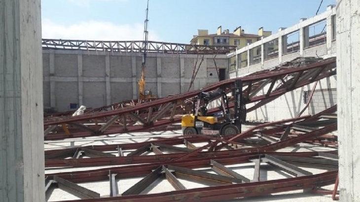 Spor salonu inşaatında iş cinayeti: 1 ölü, 1 yaralı