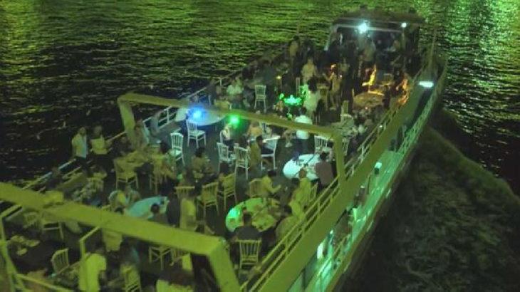 Teknede partiye 154 bin TL ceza kesildi