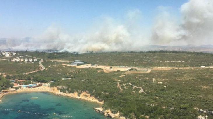 Seferihisar'da orman yangını