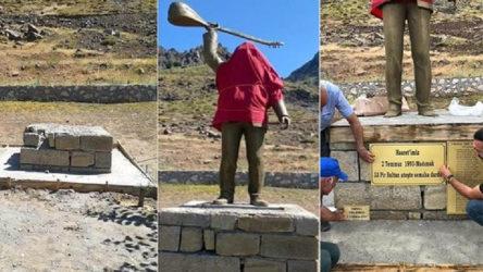 Yaktıkları yetmedi: Hasret Gültekin heykeline saldırı!