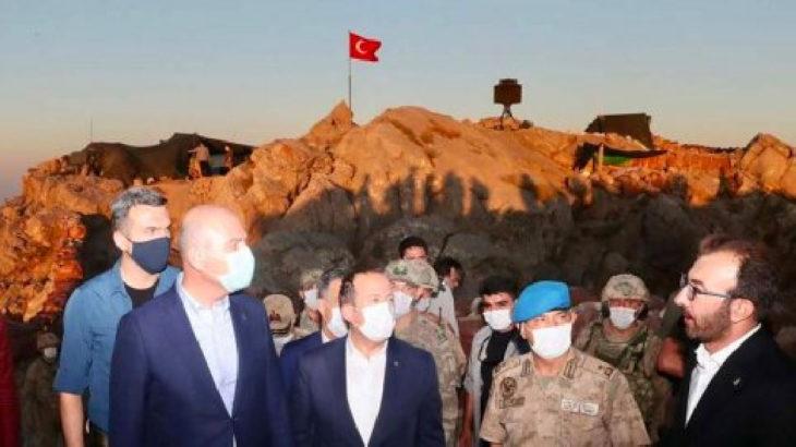 Soylu'nun sınır bölgesi ziyaretine AKP'nin il başkanları da katıldı
