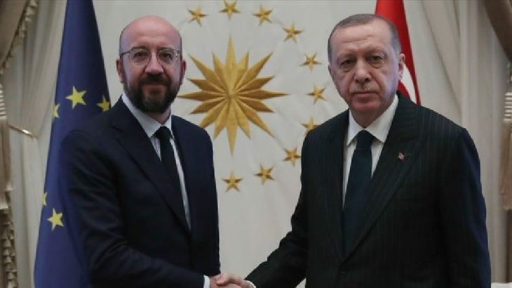 Erdoğan, Avrupa Konseyi Başkanı Michel ile telefonda görüştü