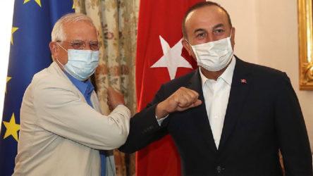 Bakan Çavuşoğlu ile AB Yüksek Temsilcisi Borrell arasında Doğu Akdeniz görüşmesi