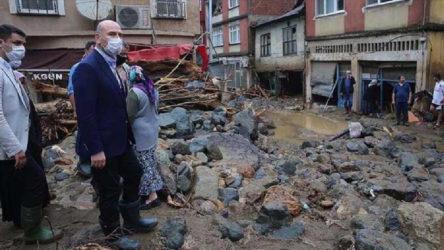 Bakan Kurum: Giresun'da 17 yıkık, 361 hasarlı bina tespit edildi