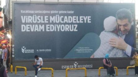AKP'li Belediye'den tepki çeken koronavirüs afişi