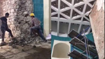 Galata Kulesi'ndeki skandal 'restorasyon'dan yeni görüntüler